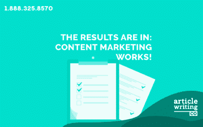 The Results Are In: Content Marketing Works!